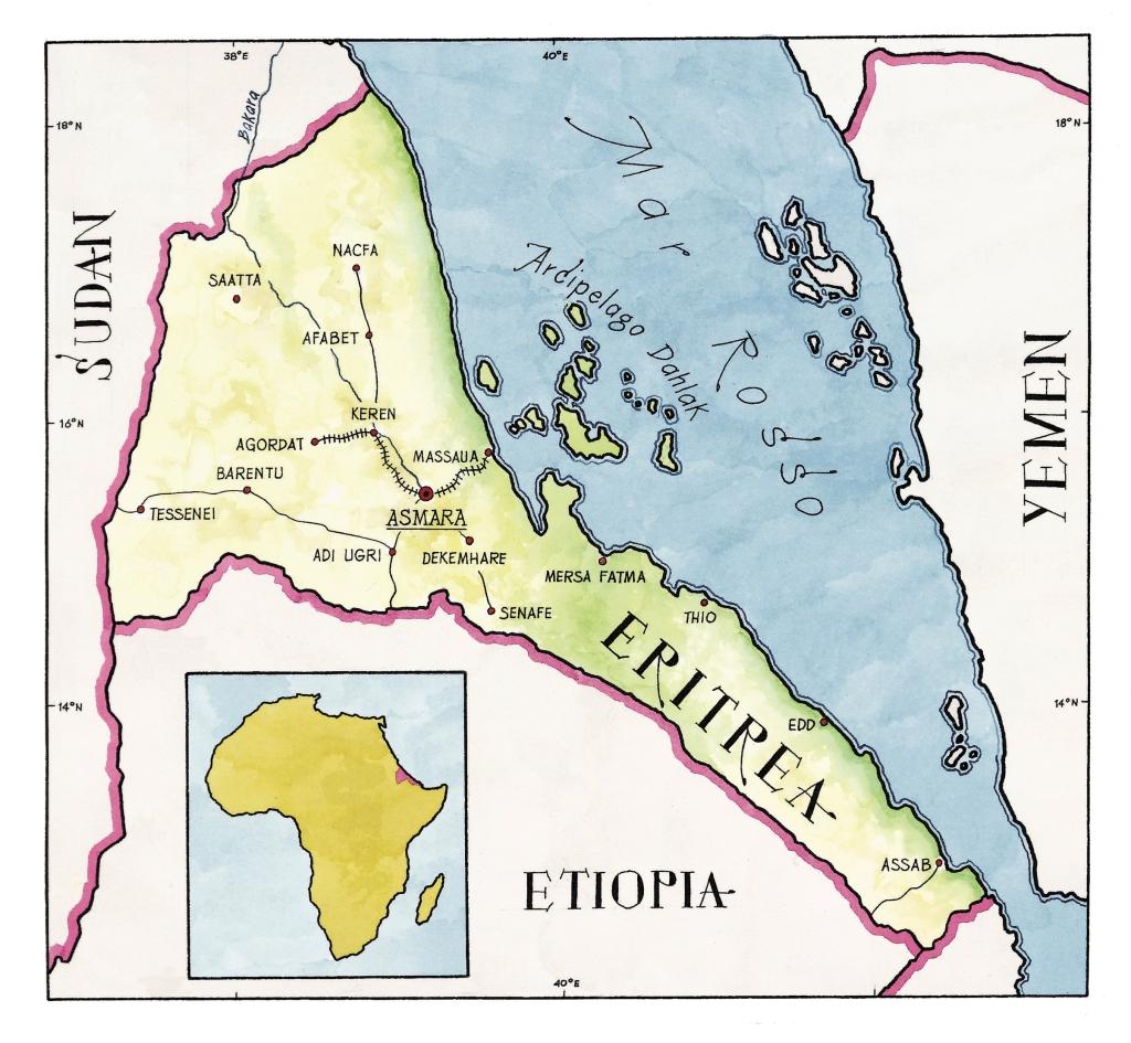 Cartina Eritrea.Eritrea Nigrizia It